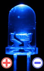 blauen LED