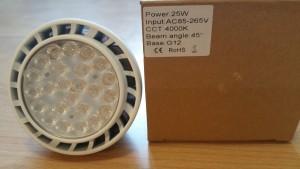 G12 LED 25W Ersatz 70W Halogen